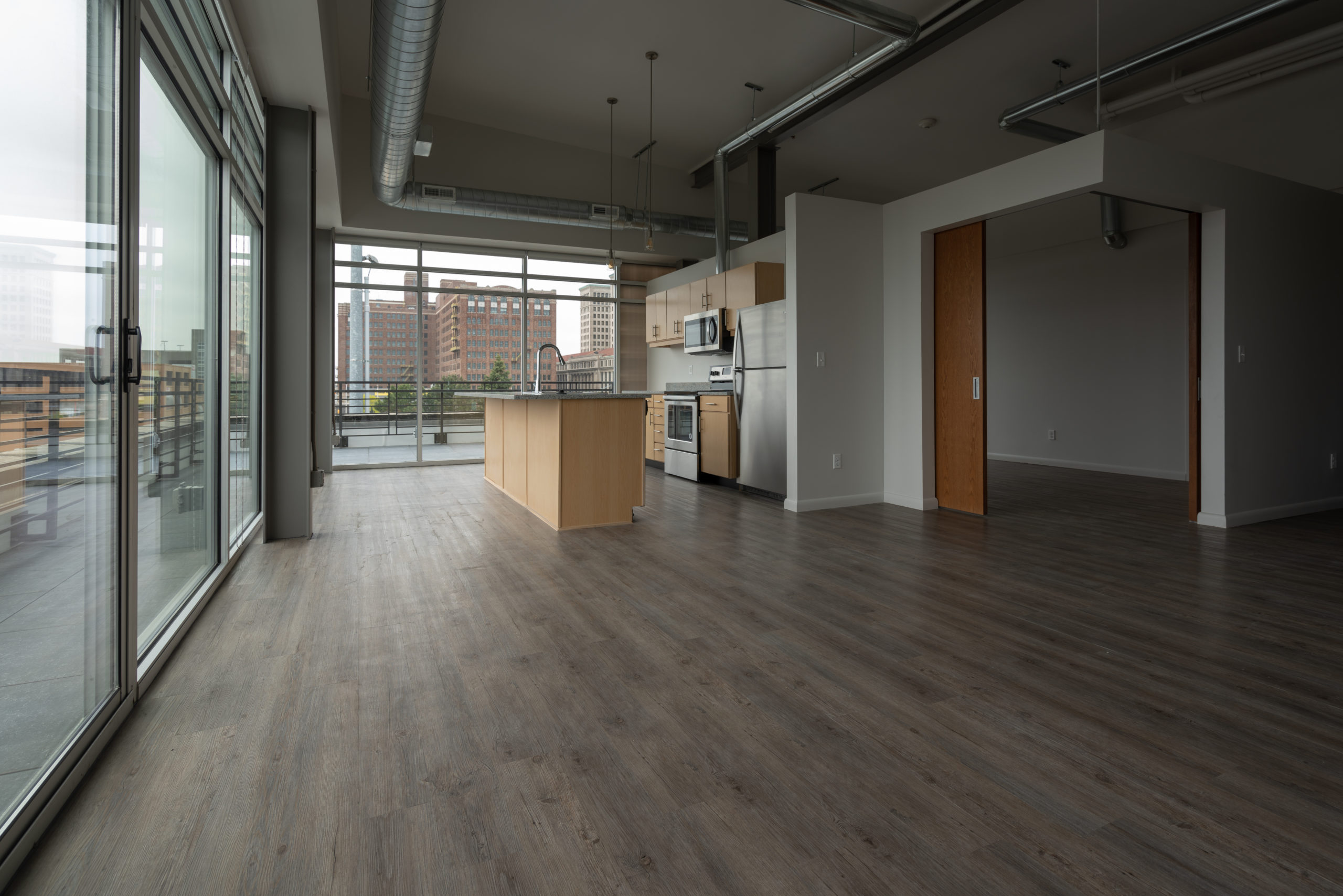 Unfurnished residential unit with balcony at Baltimore Station