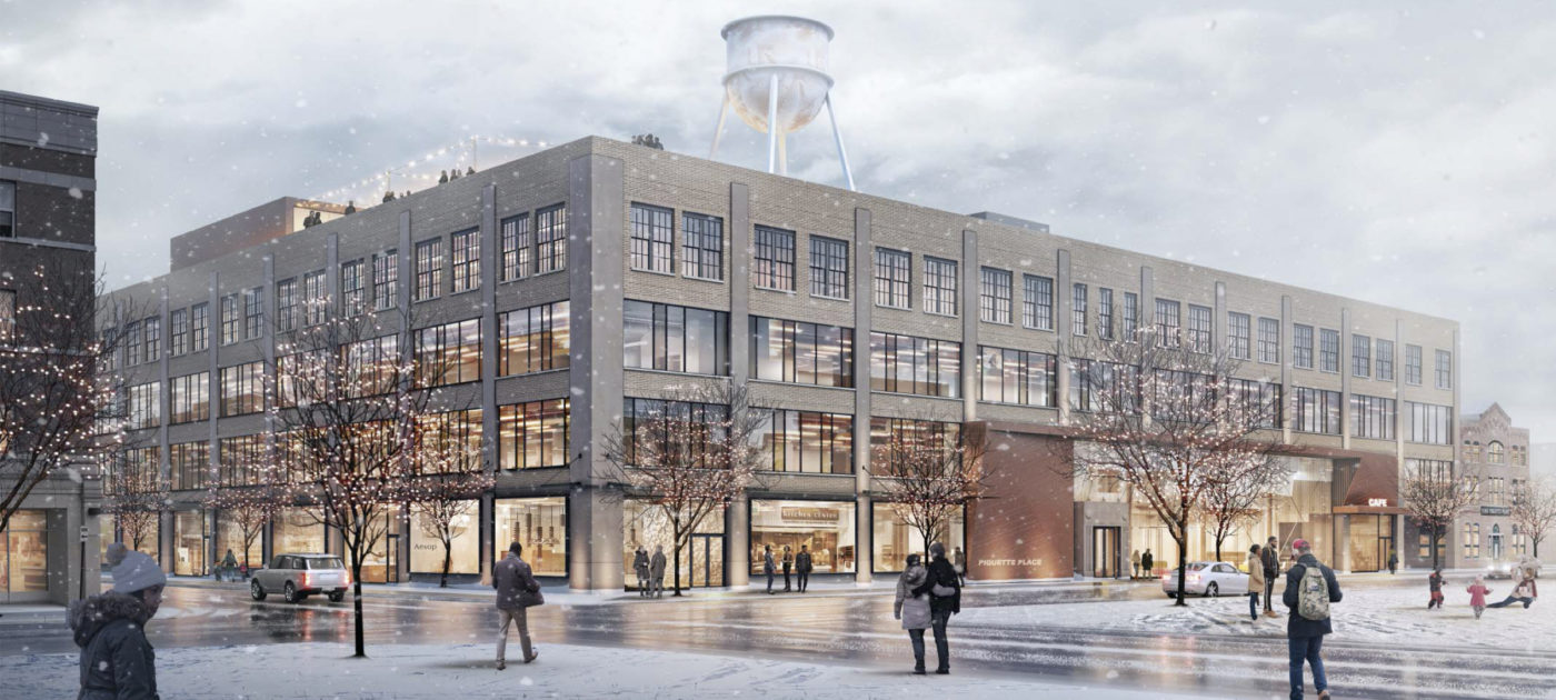 Rendering of 411 Piquette redevelopment
