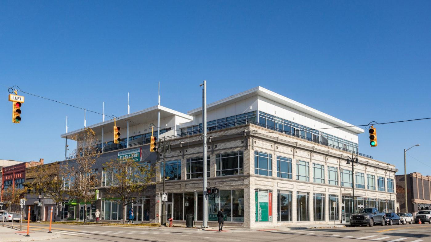 Corner of Baltimore Station along Woodward Avenue in Detroit